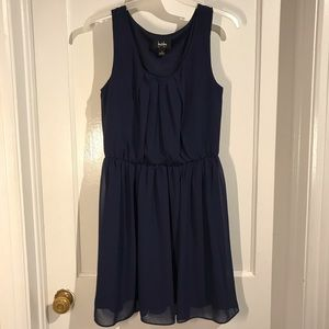 🛍 by & by sleeveless blue dress size medium